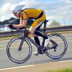 Jim Trevor breaking the club's 15 mile TT record