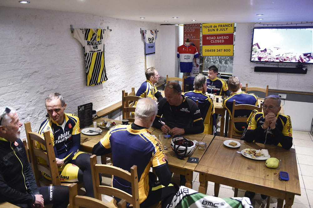 Hull Thursday riders gather in Cafe Velo